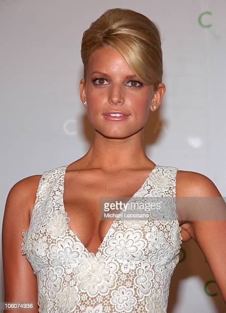 Jessica Simpson during 2006 CFDA Awards Arrivals at New York Public Library in New York City New York United States