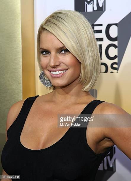 Jessica Simpson during 2006 MTV Video Music Awards Arrivals at Radio City Music Hall in New York City New York United States
