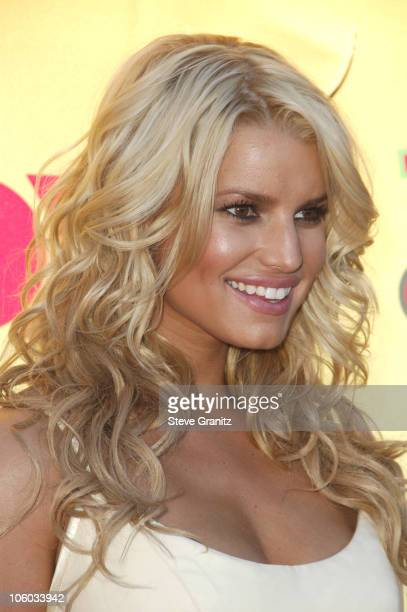 Jessica Simpson during 2006 Teen Choice Awards Arrivals at Gibson Amphitheatre in Universal City California United States
