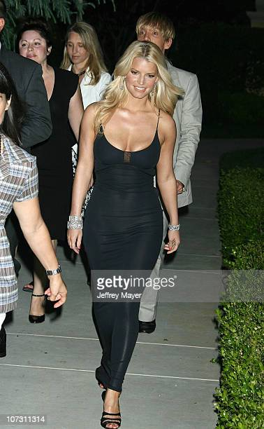 Jessica Simpson during Chrysalis's 5th Annual Butterfly Ball Arrivals at Italian villa of Carla and Fred Sands in Bel Air California United States