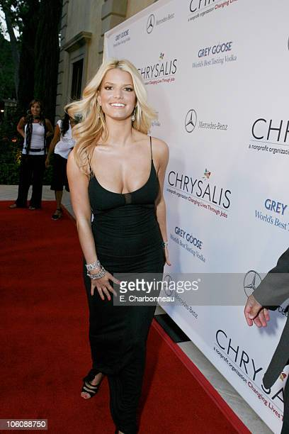 Jessica Simpson during Chrysalis's 5th Annual Butterfly Ball Red Carpet at Italian Villa of Carla and Fred Sands in Bel Air California United States