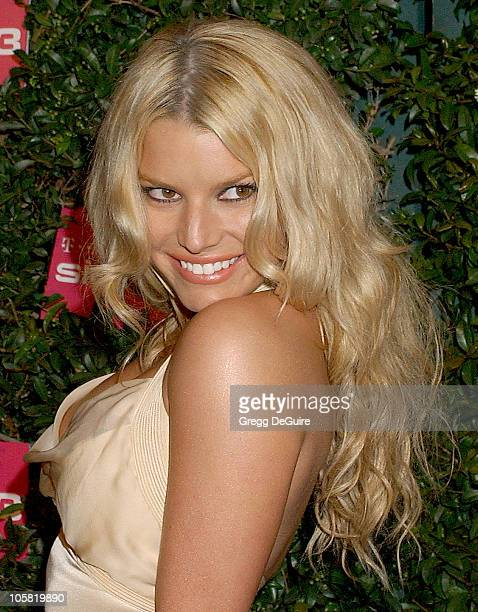 Jessica Simpson during Debut Party for the TMobile Sidekick 3 Arrivals at Hollywood Palladium in Hollywood California United States