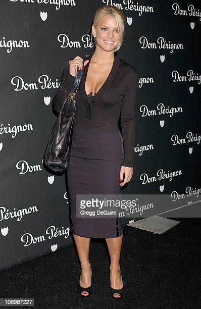 Jessica Simpson during Dom Perignon Karl Lagerfeld and Eva Herzigova Host An International Launch To Unveil The New Image Of Dom Perignon Rose...