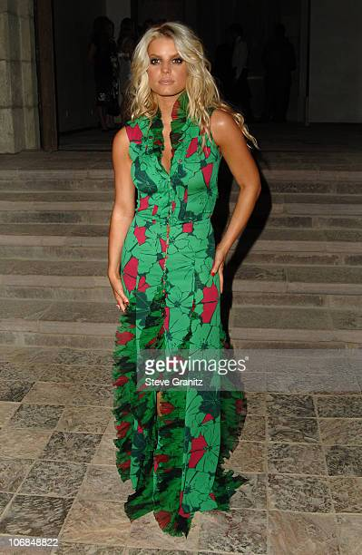Jessica Simpson during Gucci Spring 2006 Fashion Show to Benefit Children's Action Network and Westside Children's Center Arrivals at Home of Eva and...