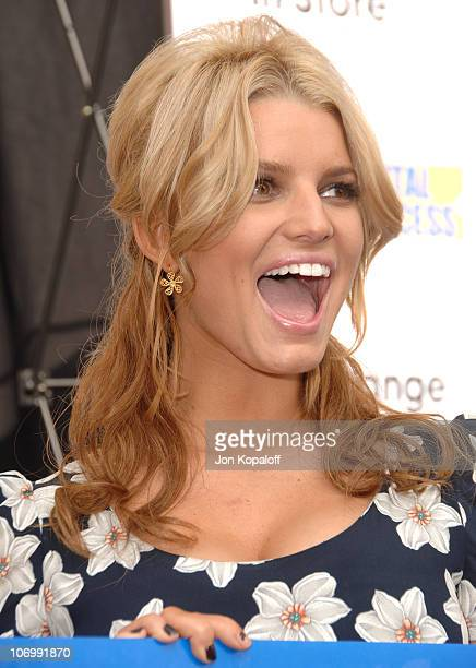 Jessica Simpson during Jessica Simpson and Blockbuster Launch 'Blockbuster Total Access' November 2 2006 at Kodak Theatre in Hollywood California...