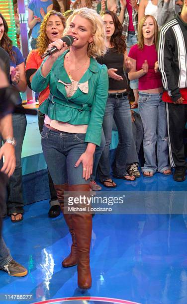 Jessica Simpson during Jessica Simpson and Dane Cook Visit MTV's TRL October 4 2006 at MTV Studios in New York City New York United States