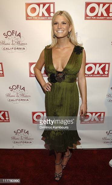 Jessica Simpson during Jessica Simpson and Diddy Host The Launch of OK Magazine at Garden of Ono in New York City New York United States