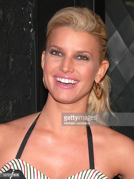 Jessica Simpson during Jessica Simpson and Yahoo Roller Skating Party at The Roxy in New York City New York United States