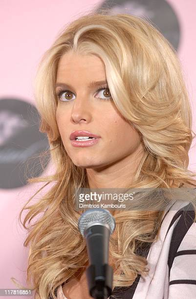 Jessica Simpson during Jessica Simpson Launches 'Dessert' Press Conference at Splashlight Studios in New York City New York United States