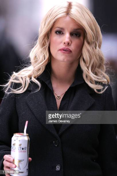 Jessica Simpson during Jessica Simpson on Location for 'Blond Ambition' March 2 2007 in New York City New York United States