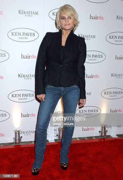 Jessica Simpson during Ken Paves Opens His Beverly Hills Salon Hosted By Jessica Simpson and Eva Longoria Arrivals at Ken Paves Salon in Beverly...