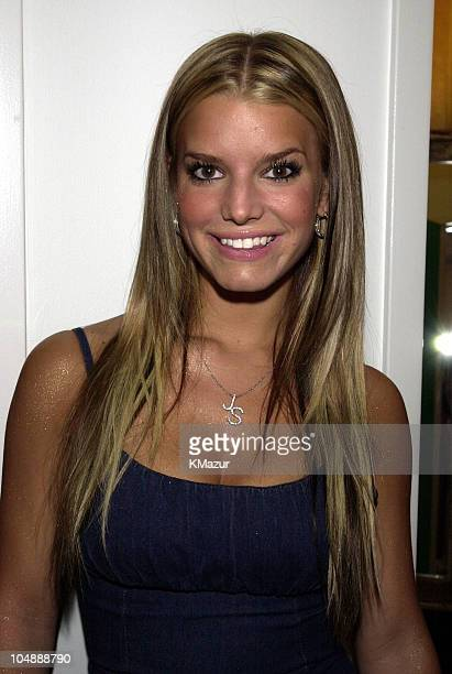 Jessica Simpson during MTV's TRL Tour July 12 2001 at MTV Studios in New York City New York United States