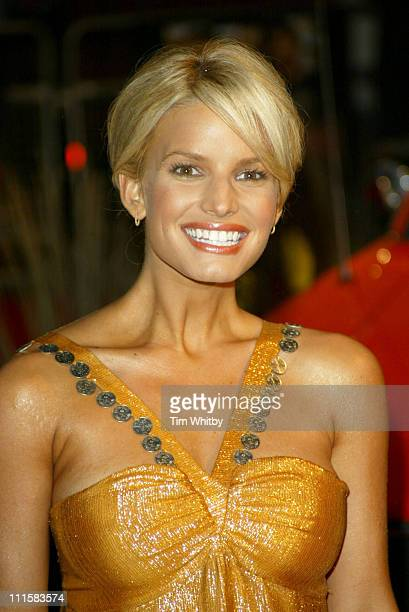 """Jessica Simpson during """"The Dukes of Hazzard"""" London Premiere - Outside Arrivals at Vue Leicester Square in London, Great Britain."""