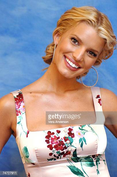 Jessica Simpson during 'The Dukes of Hazzard' Press Conference with Jessica Simpson Johnny Knoxville and Seann William Scott at the The Drake Hotel...