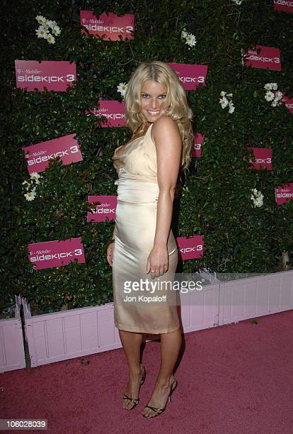 Jessica Simpson during TMobile Sidekick 3 Launch Arrivals at 6215 Sunset Blvd in Hollywood California United States