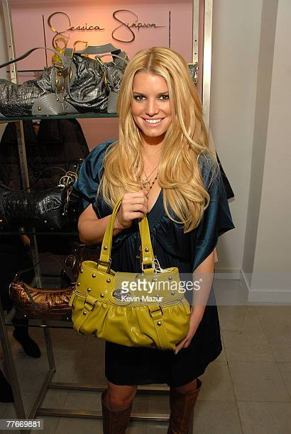 """Jessica Simpson introduces """"Jessica Simpson Collection"""" at Macy's Herald Square on November 3, 2007 in New York City."""
