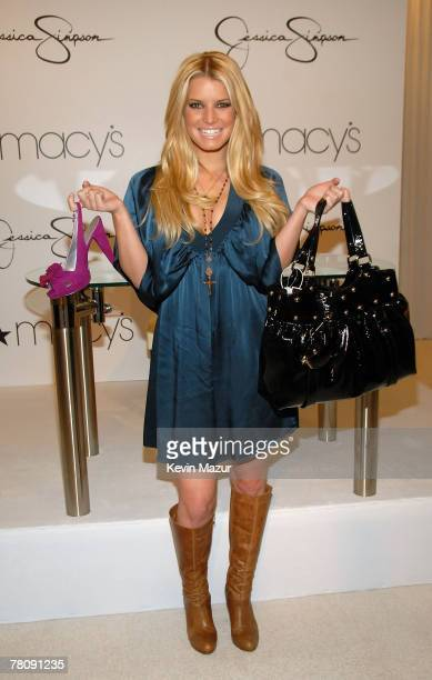Jessica Simpson introduces Jessica Simpson Collection at Macy's Herald Square on November 3 2007 in New York City