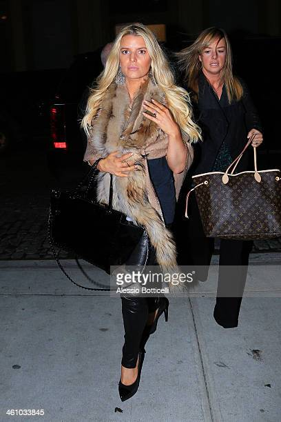 Jessica Simpson is seen arriving at her hotel on January 6 2014 in New York City
