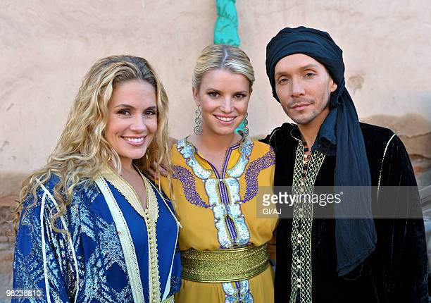 CA APRIL 01 Jessica Simpson is seen filming her new reality show 'The Price Of Beauty' on October 8 2009 in Morocco