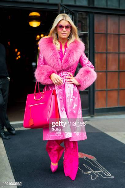 Jessica Simpson is seen in the East Village on February 04 2020 in New York City