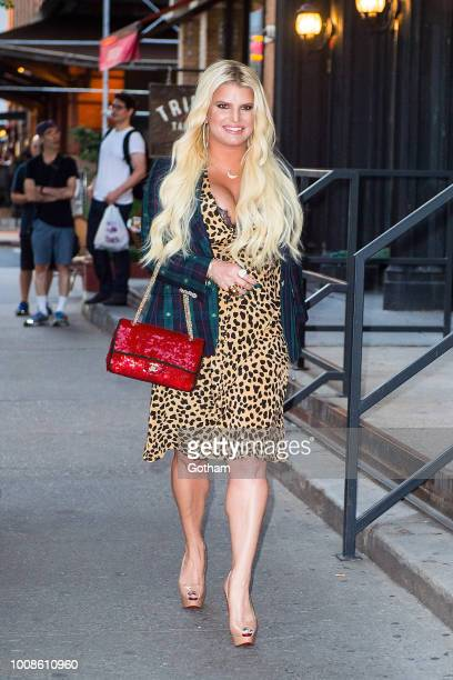 Jessica Simpson is seen in Tribeca on July 31 2018 in New York City