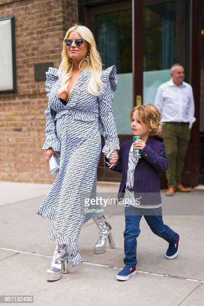 Jessica Simpson is seen in Tribeca on May 10 2018 in New York City