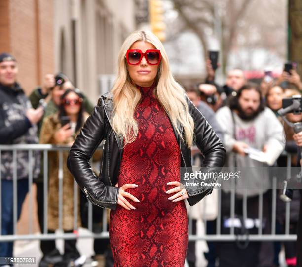 Jessica Simpson leaves ABC's The View on February 5 2020 in New York City