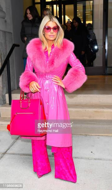 Jessica Simpson leaves BuzzFeed on February 4 2020 in New York City