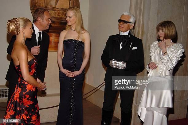Jessica Simpson Michael Kors Nicole Kidman karl Lagerfeld and Anna Wintour attend The Metropolitan Museum of Art Costume Institute Spring 2005...