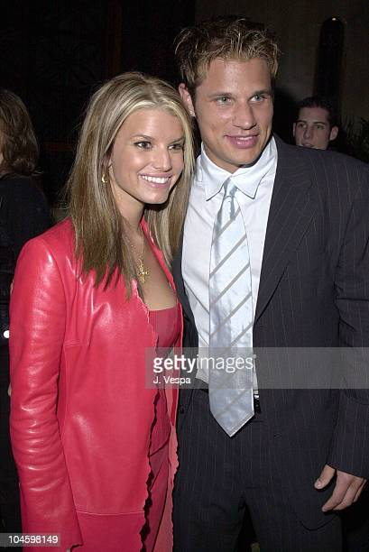 Jessica Simpson Nick Lachey during The 28th Annual American Music Awards Columbia Records After Party at Las Palmas in Hollywood California United...