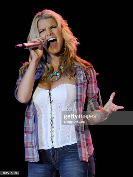 Jessica Simpson Performs at the Los Angeles County Fair on September 21 2008 in Los Angeles California