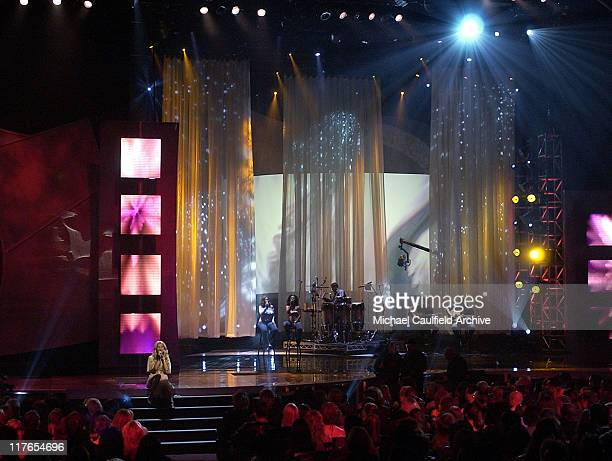 Jessica Simpson performs 'With You' during 32nd Annual American Music Awards Show at Shrine Auditorium in Los Angeles California United States