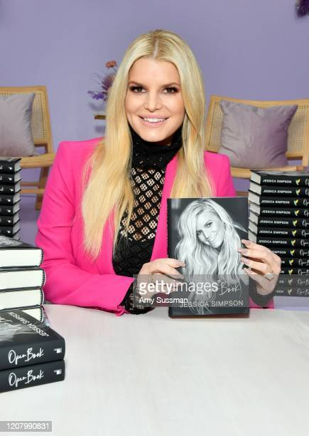 Jessica Simpson poses with her book during Create Cultivate Los Angeles at Rolling Greens Los Angeles on February 22 2020 in Los Angeles California