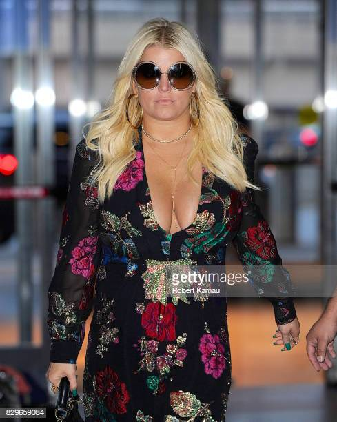 Jessica Simpson seen at JFK Airport on August 10 2017 in New York City