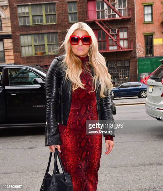 Jessica Simpson seen on the streets of Manhattan on February 5 2020 in New York City