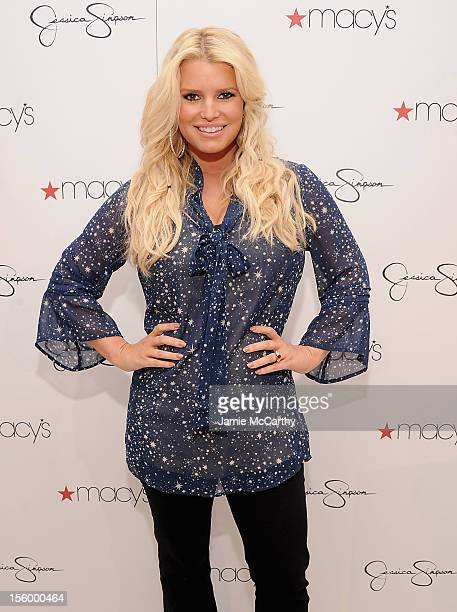 Jessica Simpson visits Macy's South Coast Plaza in support of the Jessica Simpson and Jessica Simpson Girls Collections on November 10, 2012 in Costa...