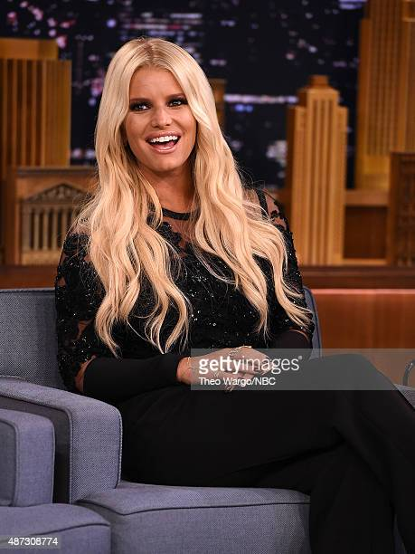 Jessica Simpson Visits The Tonight Show Starring Jimmy Fallon at Rockefeller Center on September 8 2015 in New York City