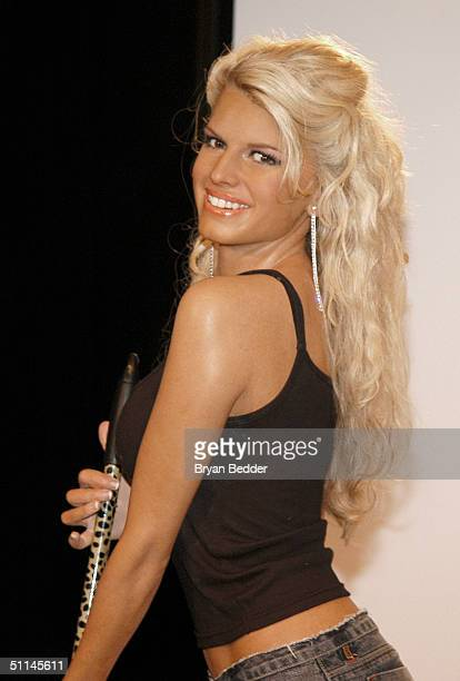 Jessica Simpson wax figure is seen during the Domestic Diva or Ditz game show at Madame Tussauds wax figure museum August 5 2004 in New York City...