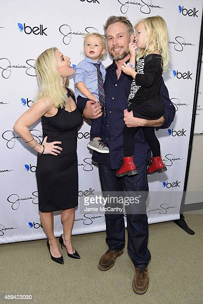 Jessica Simpson wearing Jessica Simpson Collection Ace Knute Johnson Eric Johnson and Maxwell Drew Johnson wearing Jessica Simpson Girls attend...