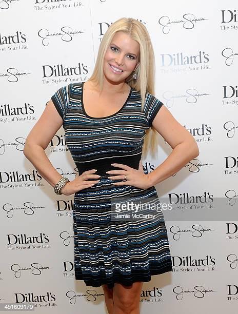 Jessica Simpson, wearing Jessica Simpson Collection, attends a Jessica Simpson Collection event at Dillard's on November 23, 2013 in Dallas, Texas.