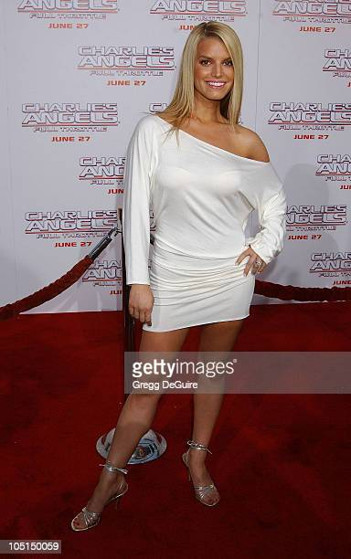 """Jessica Simpson wearing nathan&moe jewelry. During """"Charlie's Angels 2 - Full Throttle"""" Premiere at Mann's Chinese Theater in Hollywood, California,..."""