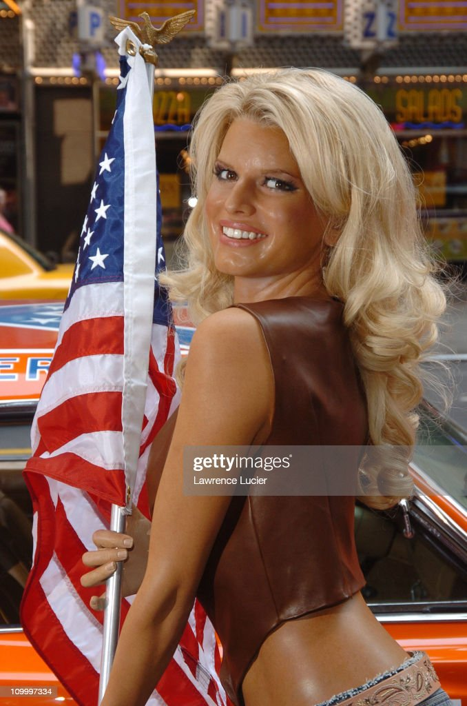jessica simpson wax figure and the general lee car from