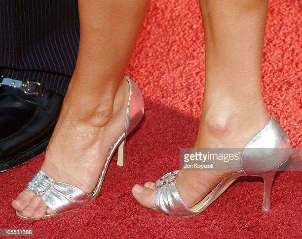 "Jessica Simpson's shoes during ""The Dukes Of Hazzard"" Los Angeles Premiere - Arrivals at Grauman's Chinese Theatre in Hollywood, California, United..."