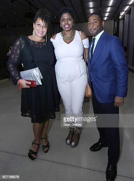 Jessica Sirmans Jamaican artist Ebony G Patterson and Franklin Sirmans Director of PAMM at Perez Art Museum Miami during the 15th Annual Art Basel...