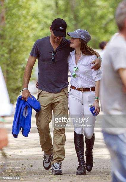 Jessica Springsteen and her boyfriend Nic Roldan attend Global Champions Tour Horse Tournament on May 20 2016 in Madrid Spain