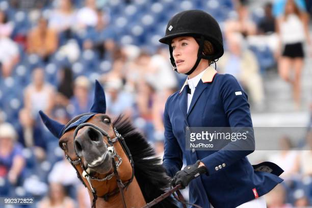 Jessica Springsteen at Longines Eiffel Jumping in Paris on 05 JUne 2018