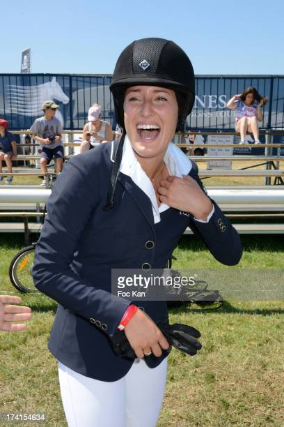 Jessica Springsteen attends the AL Sportswear 5th Anniversary during the Longines Global Champions Tour of Chantilly At the Hippodrome De Chantilly...