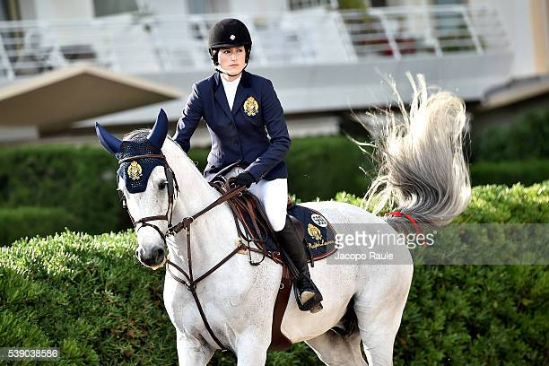 Jessica Springsteen competes at International Longines Global Champion Tour Day 1 on June 9 2016 in Cannes France