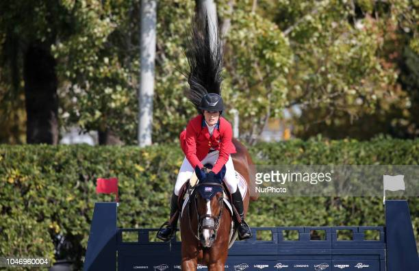 Jessica Springsteen daughter of Bruce Springsteen wins the Queens Cup in Barcelona on 06th October 2018