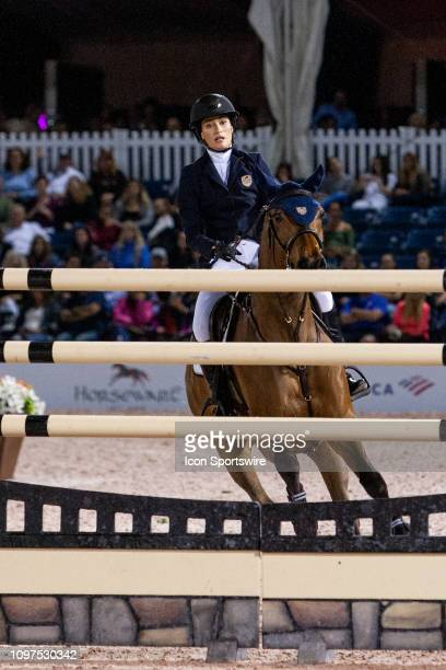 Jessica Springsteen during the $391000 Fidelity Investments Grand Prix at the Winter Equestrian Festival on February 9 2019 at The Palm Beach...